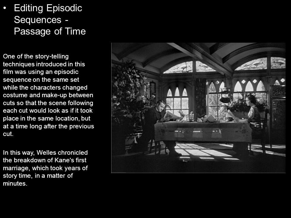 Editing Episodic Sequences - Passage of Time