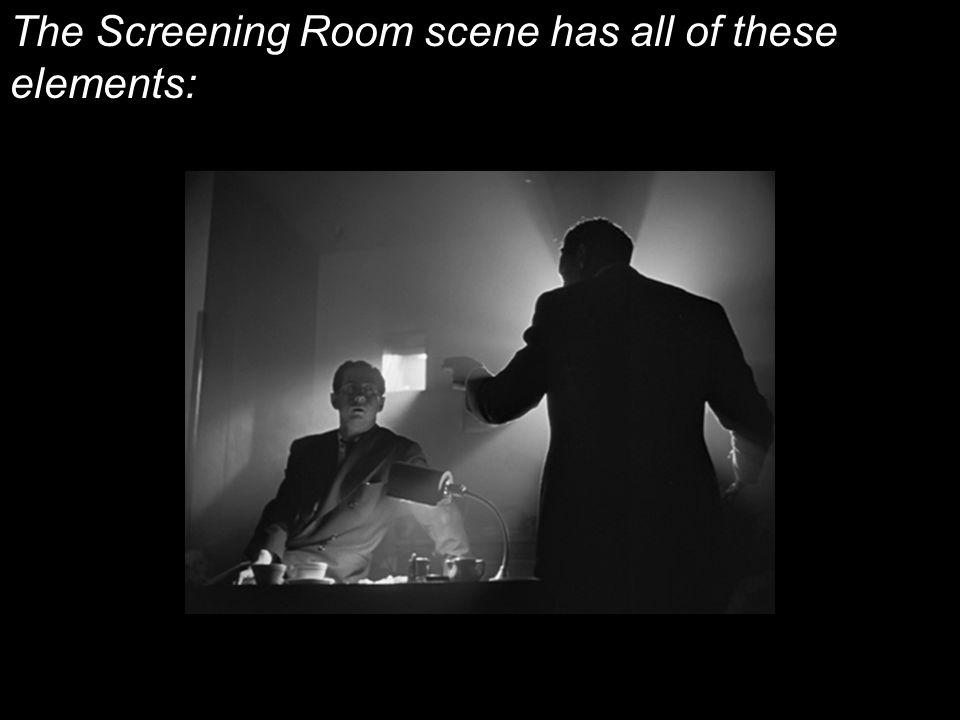 The Screening Room scene has all of these elements: