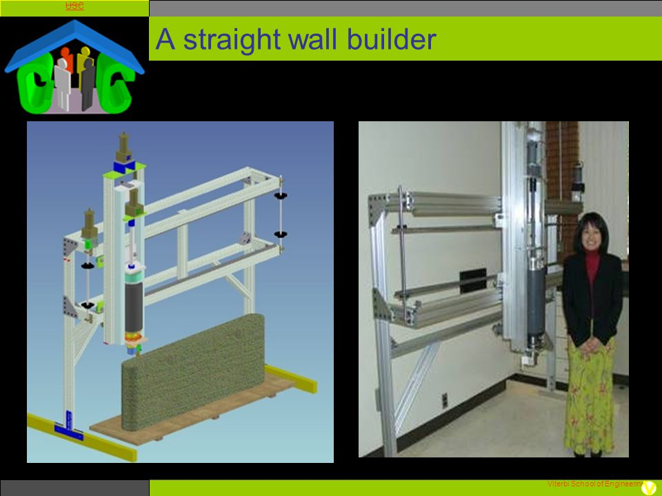 A straight wall builder