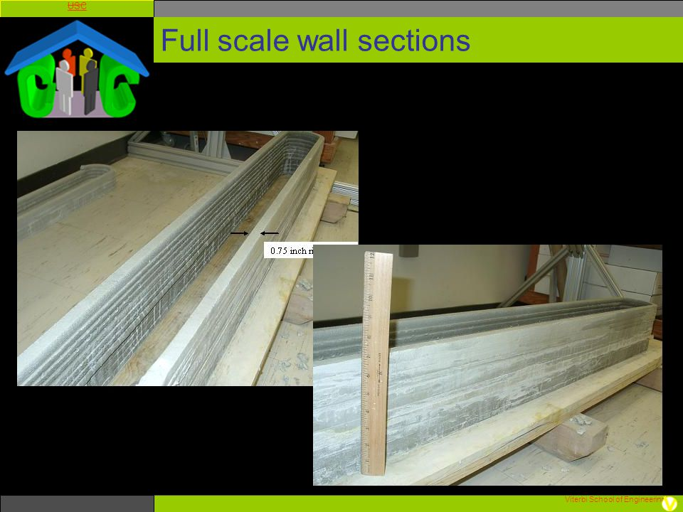 Full scale wall sections