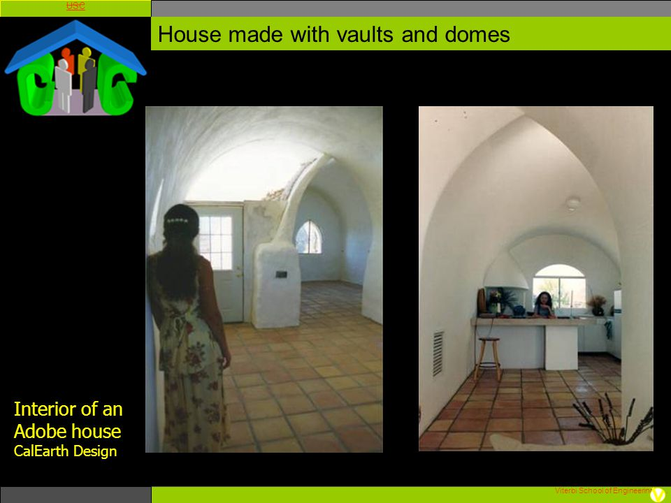 House made with vaults and domes