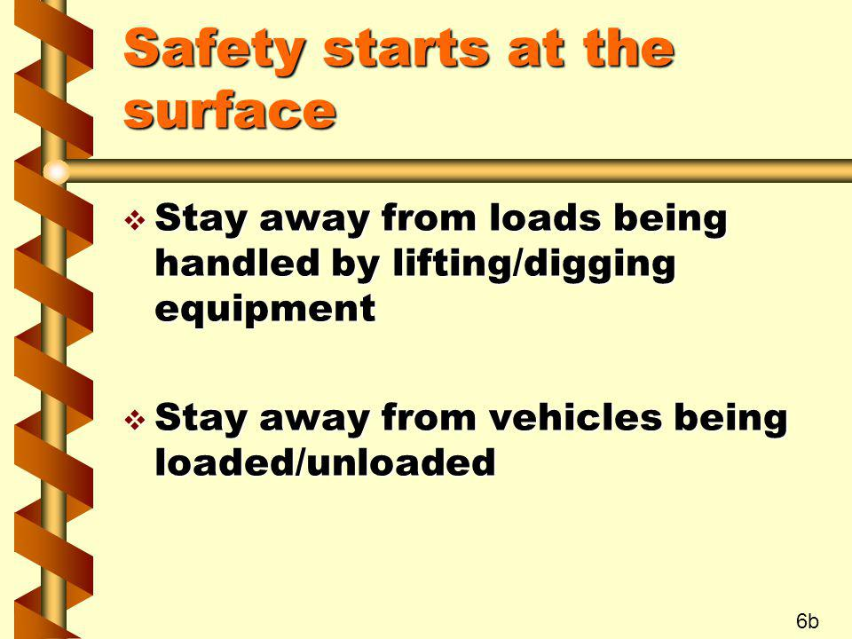 Safety starts at the surface