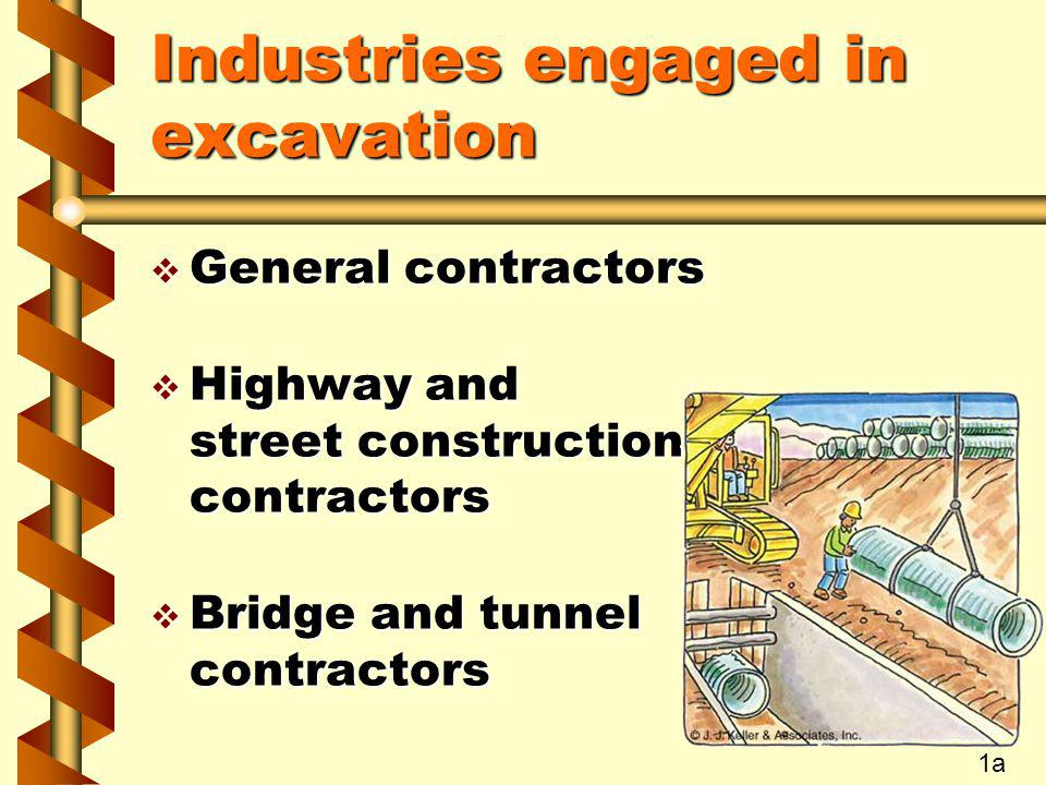 Industries engaged in excavation