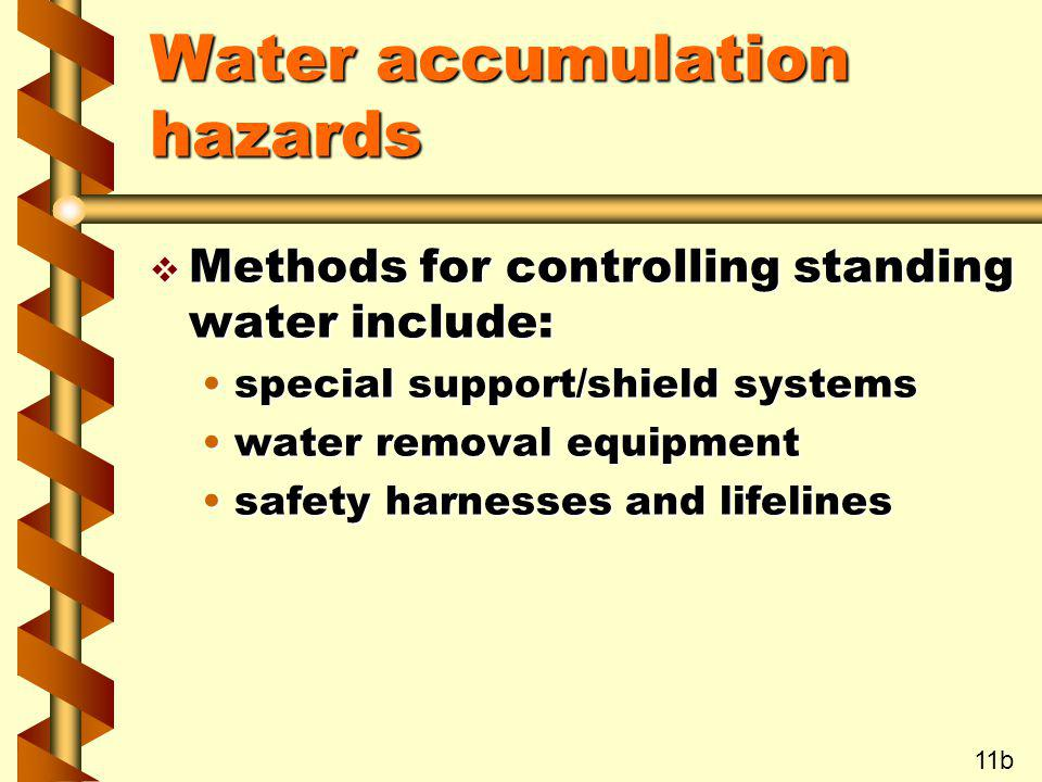 Water accumulation hazards
