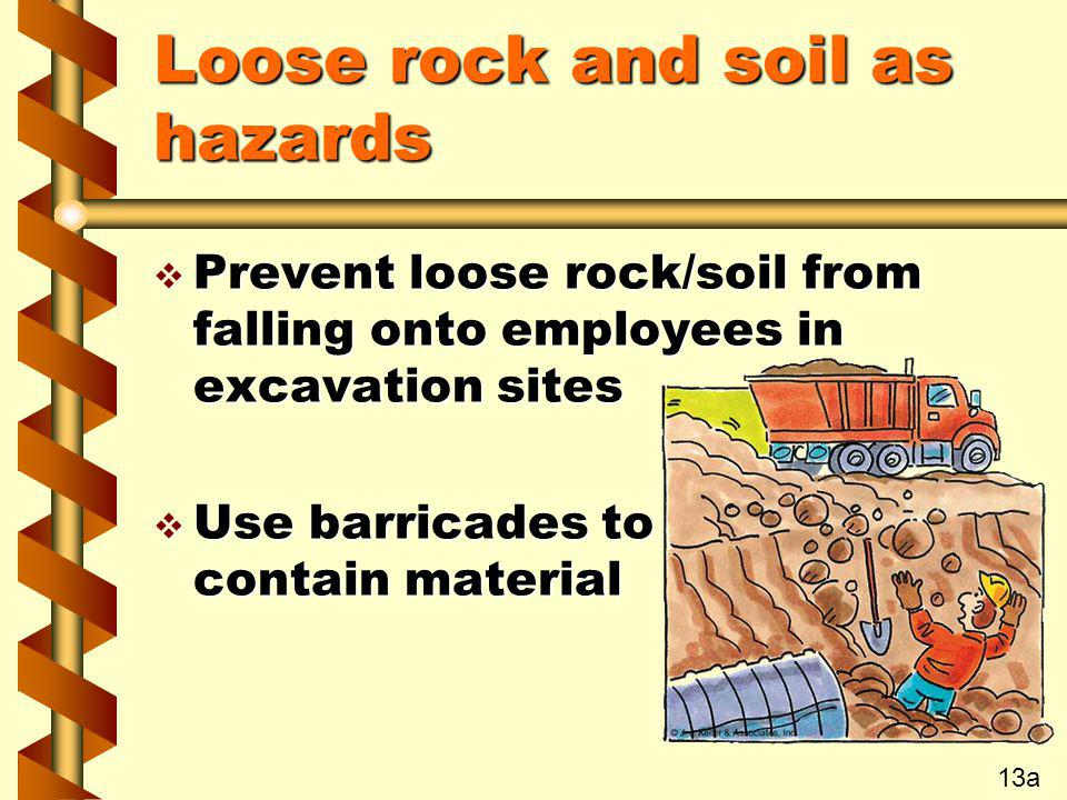 Loose rock and soil as hazards