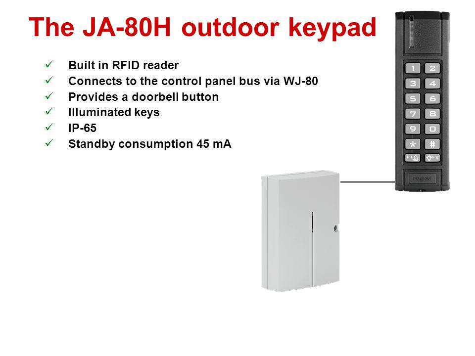 The JA-80H outdoor keypad