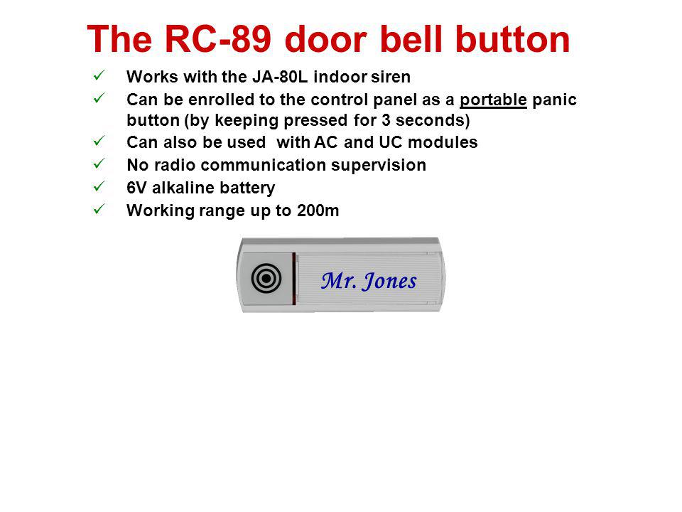 The RC-89 door bell button