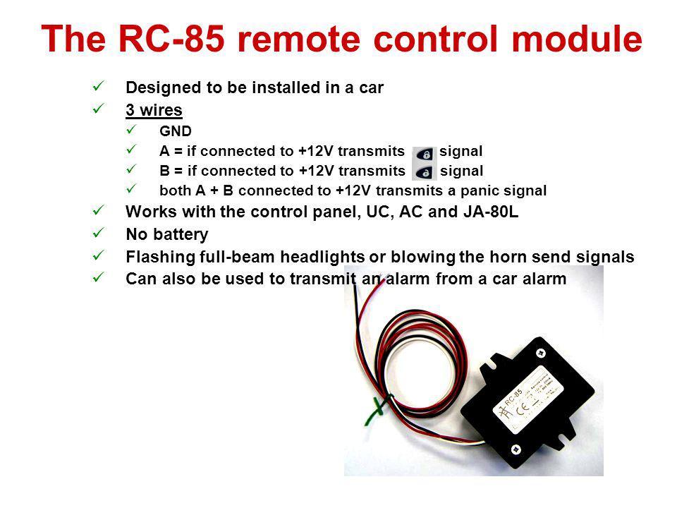 The RC-85 remote control module
