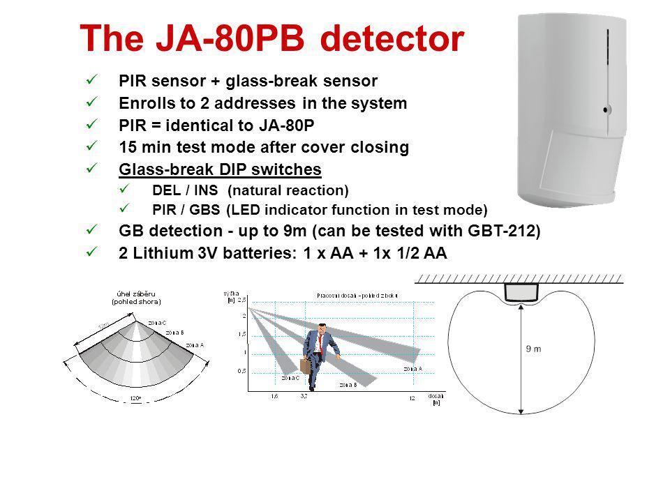 The JA-80PB detector PIR sensor + glass-break sensor