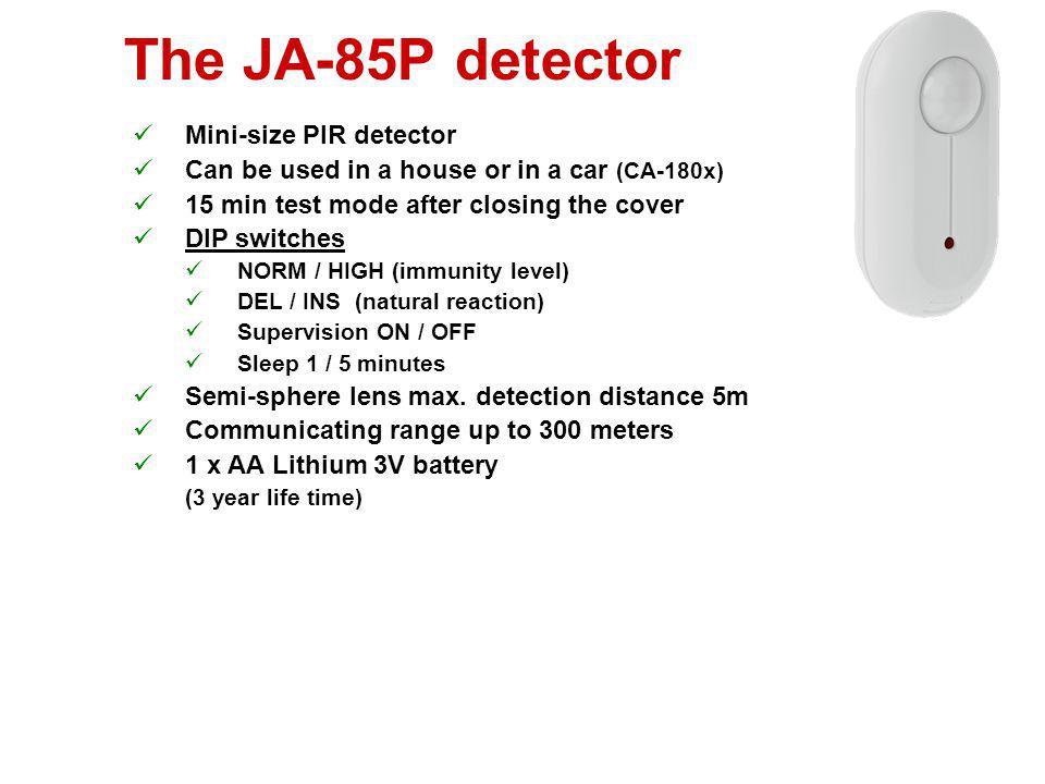 The JA-85P detector Mini-size PIR detector
