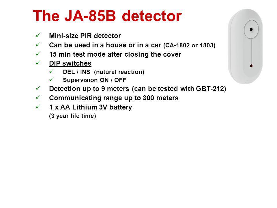 The JA-85B detector Mini-size PIR detector