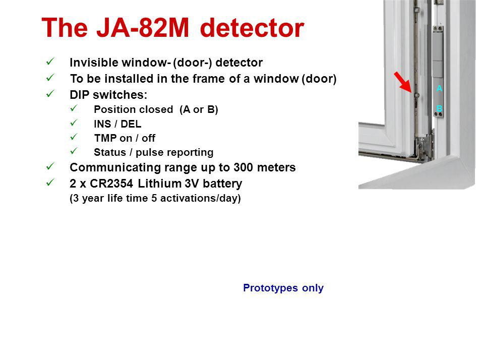 The JA-82M detector Invisible window- (door-) detector