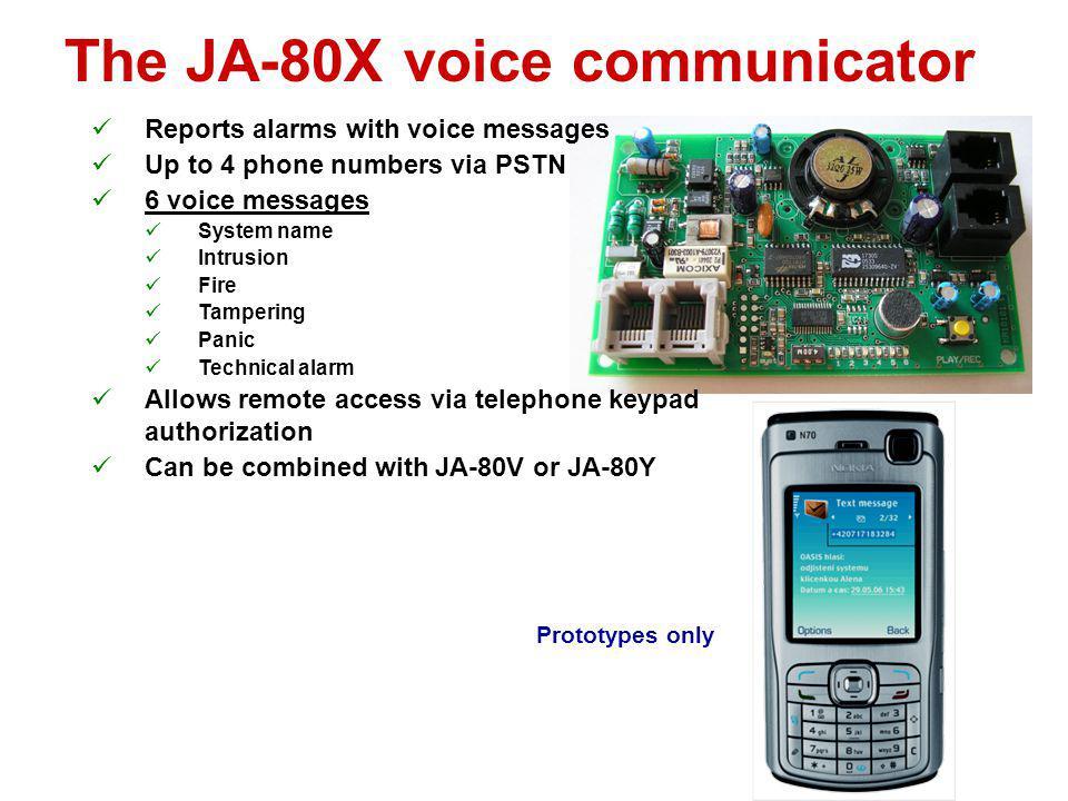 The JA-80X voice communicator