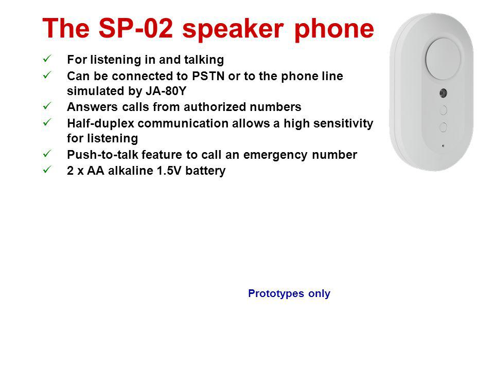 The SP-02 speaker phone For listening in and talking