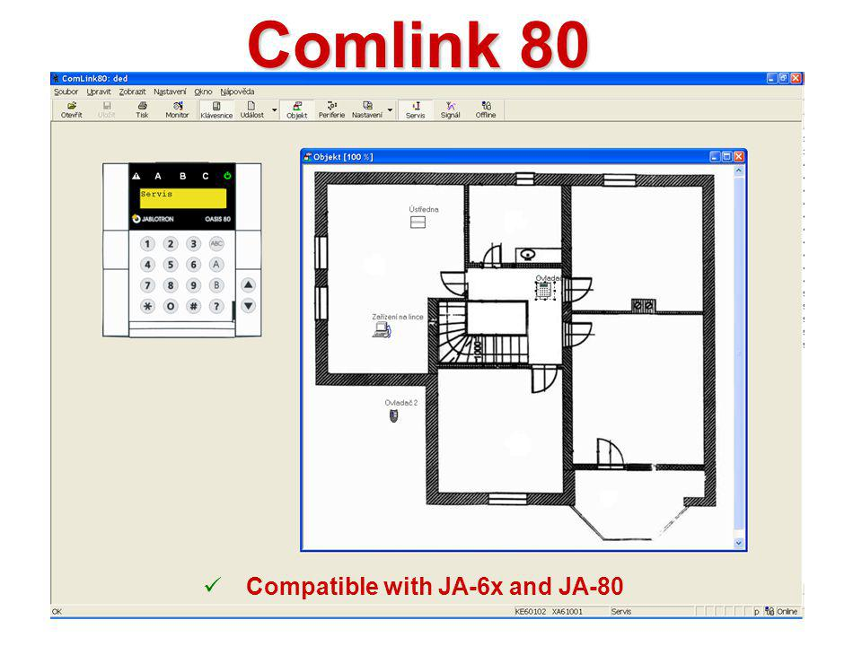 Comlink 80 Compatible with JA-6x and JA-80