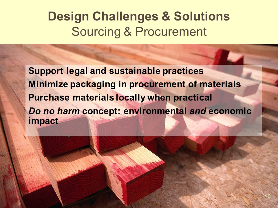 Design Challenges & Solutions Sourcing & Procurement