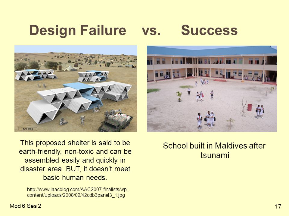 Design Failure vs. Success