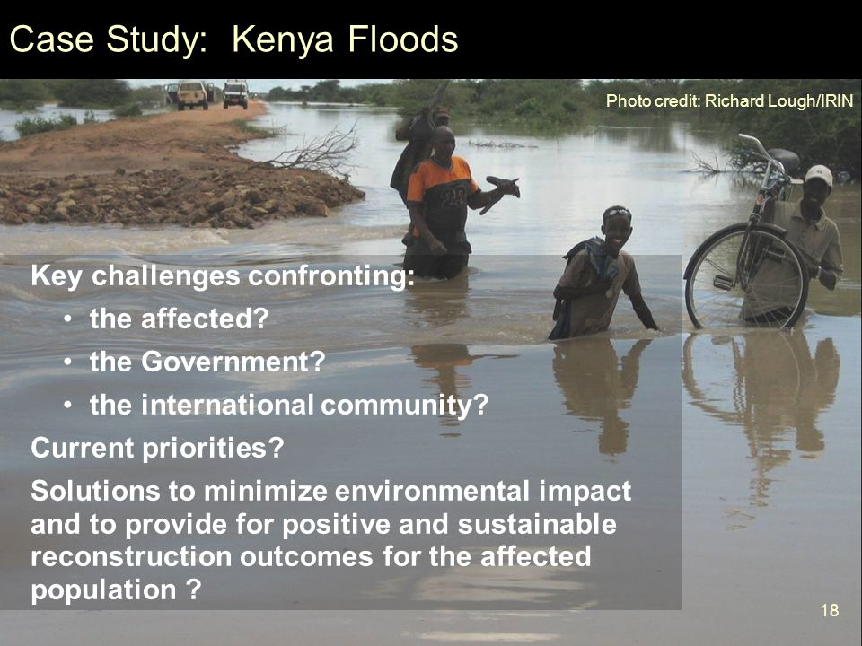 Case Study: Kenya Floods