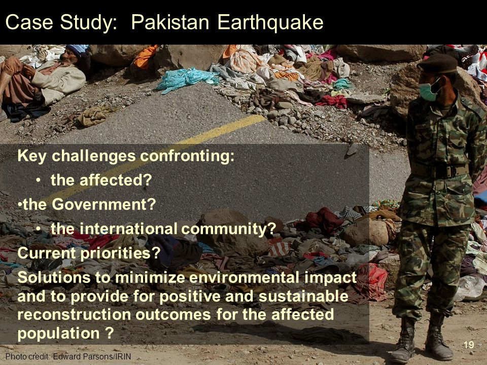 Case Study: Pakistan Earthquake