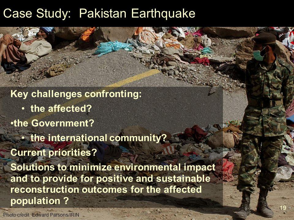 Case Study: Pakistan Earthquake