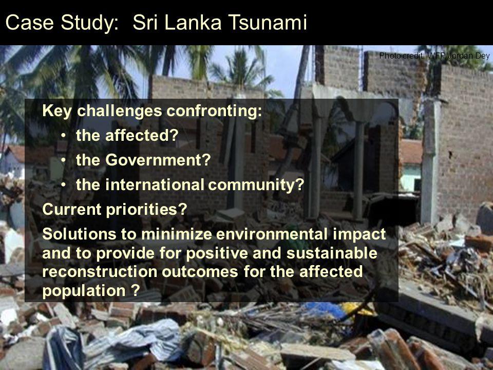 Case Study: Sri Lanka Tsunami