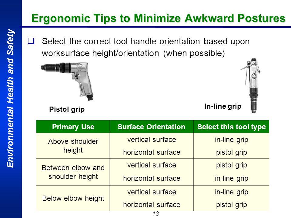 Ergonomic Tips to Minimize Awkward Postures