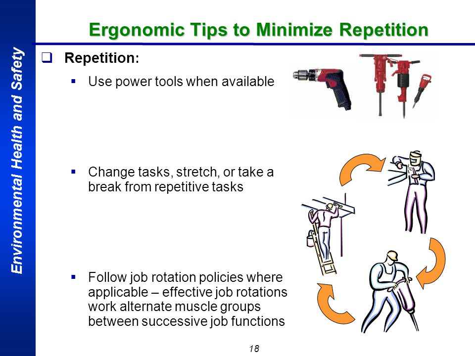 Ergonomic Tips to Minimize Repetition