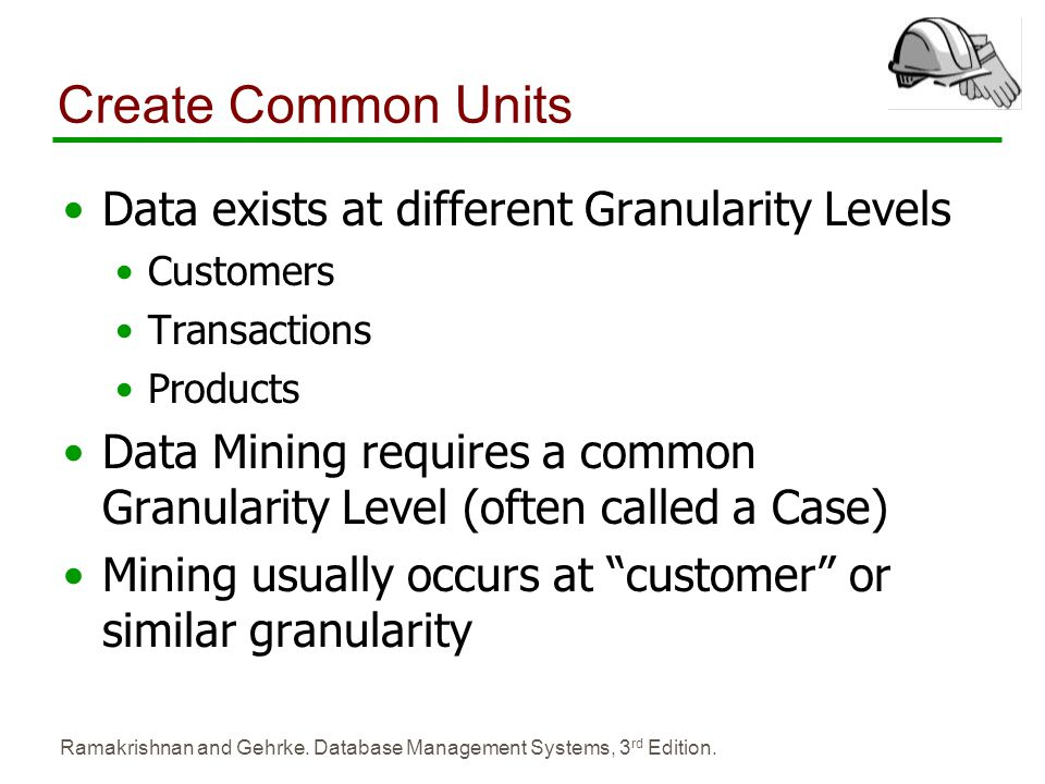 Create Common Units Data exists at different Granularity Levels