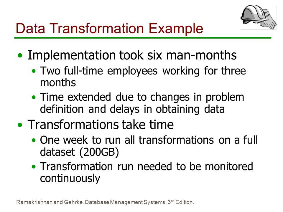 Data Transformation Example