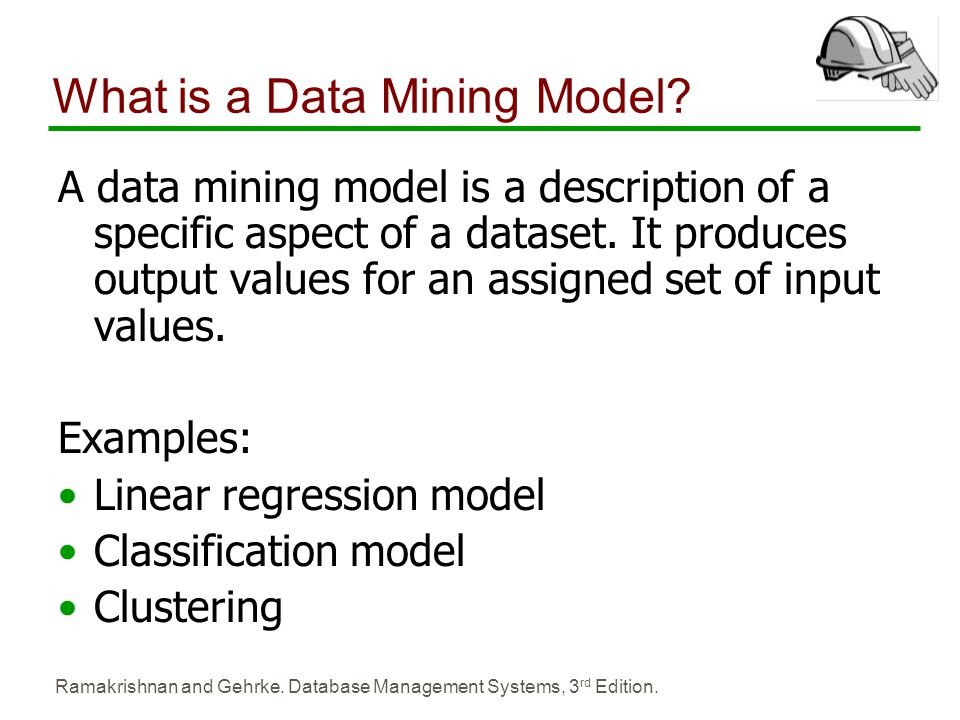 What is a Data Mining Model