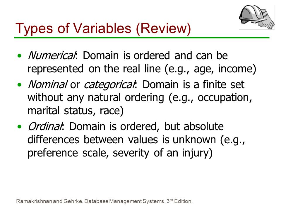 Types of Variables (Review)