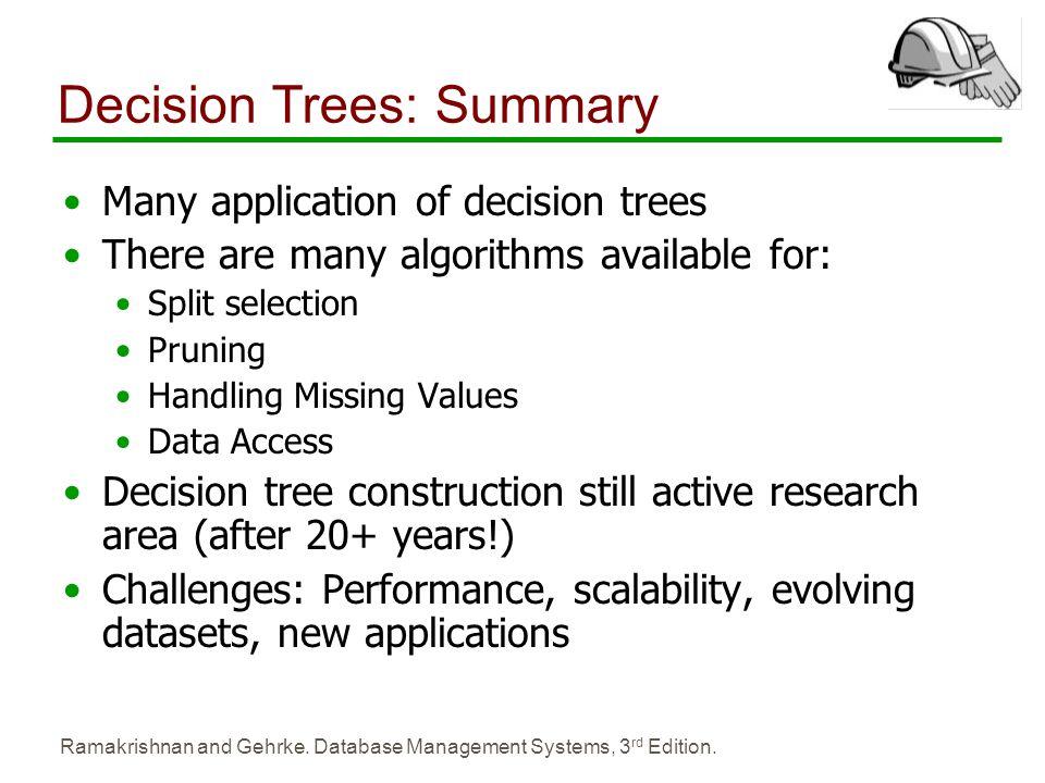 Decision Trees: Summary