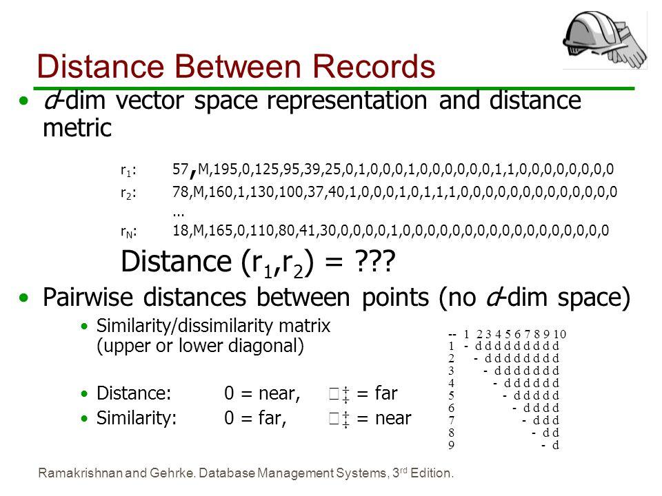 Distance Between Records