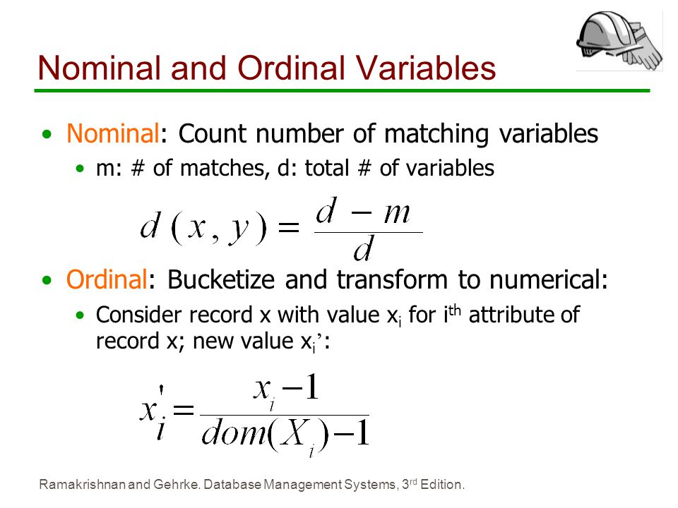 Nominal and Ordinal Variables