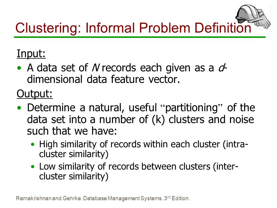 Clustering: Informal Problem Definition