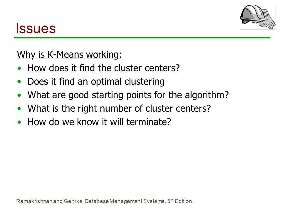 Issues Why is K-Means working: How does it find the cluster centers