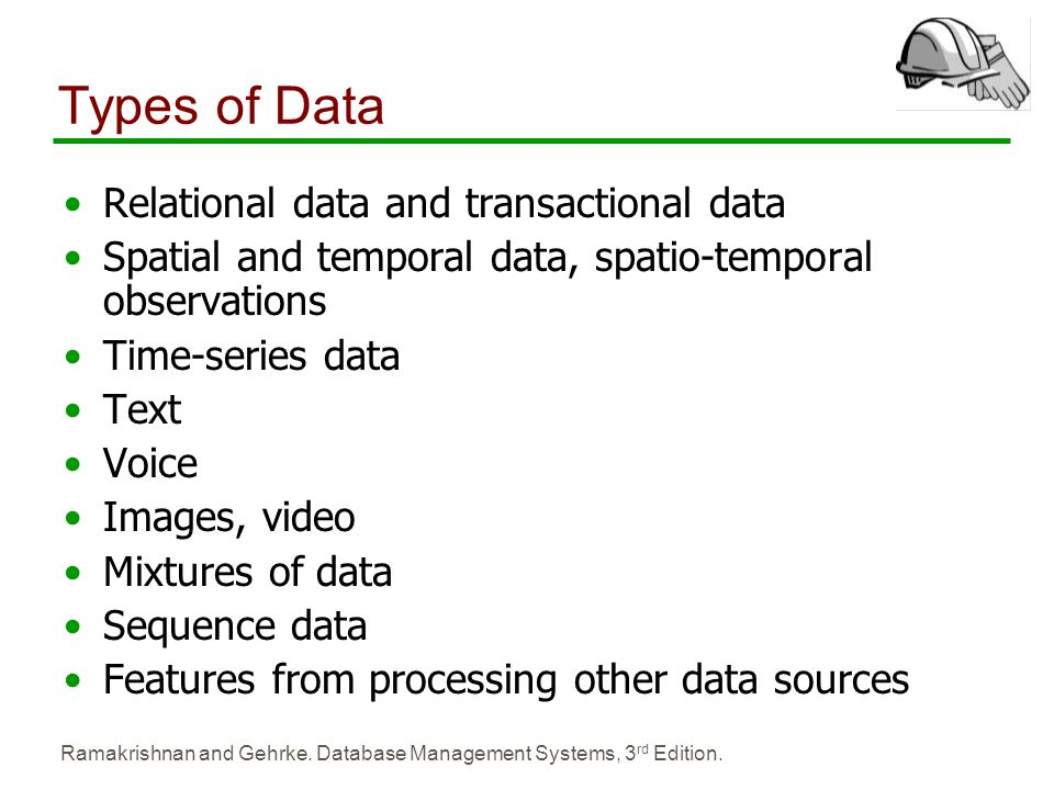 Types of Data Relational data and transactional data