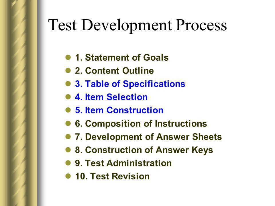 Test Development Process