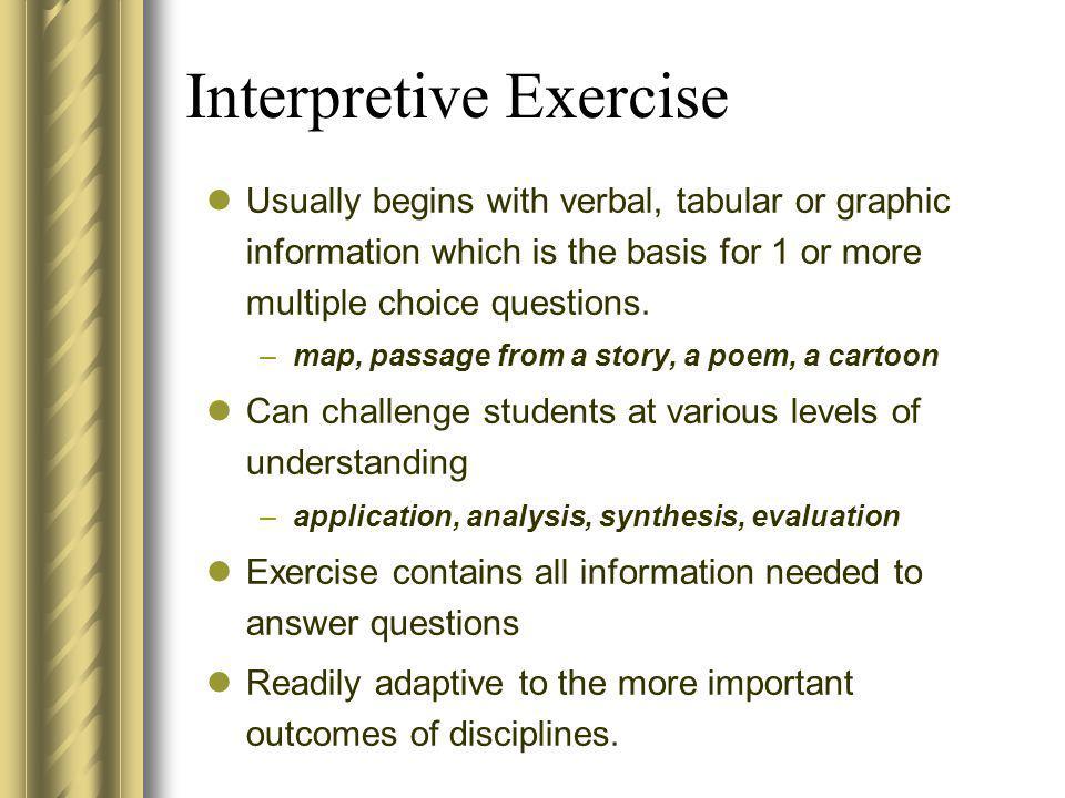 Interpretive Exercise