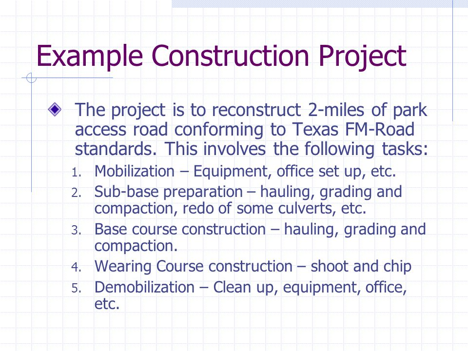 Example Construction Project