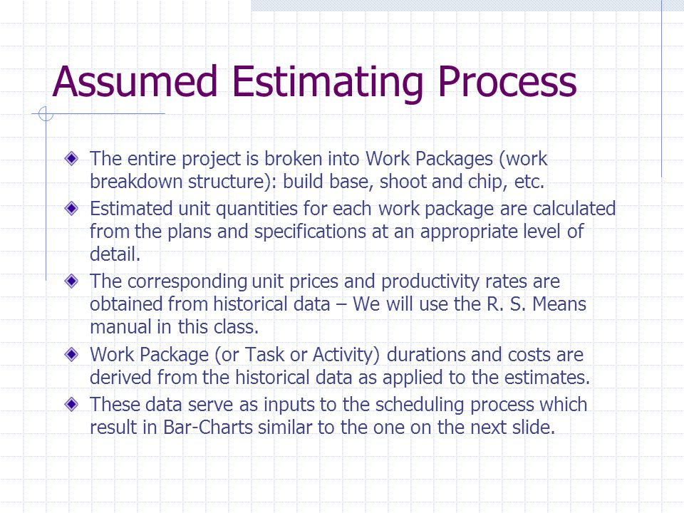 Assumed Estimating Process