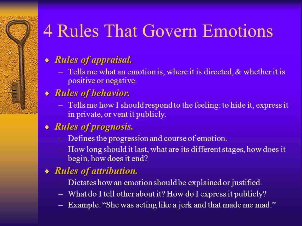 4 Rules That Govern Emotions