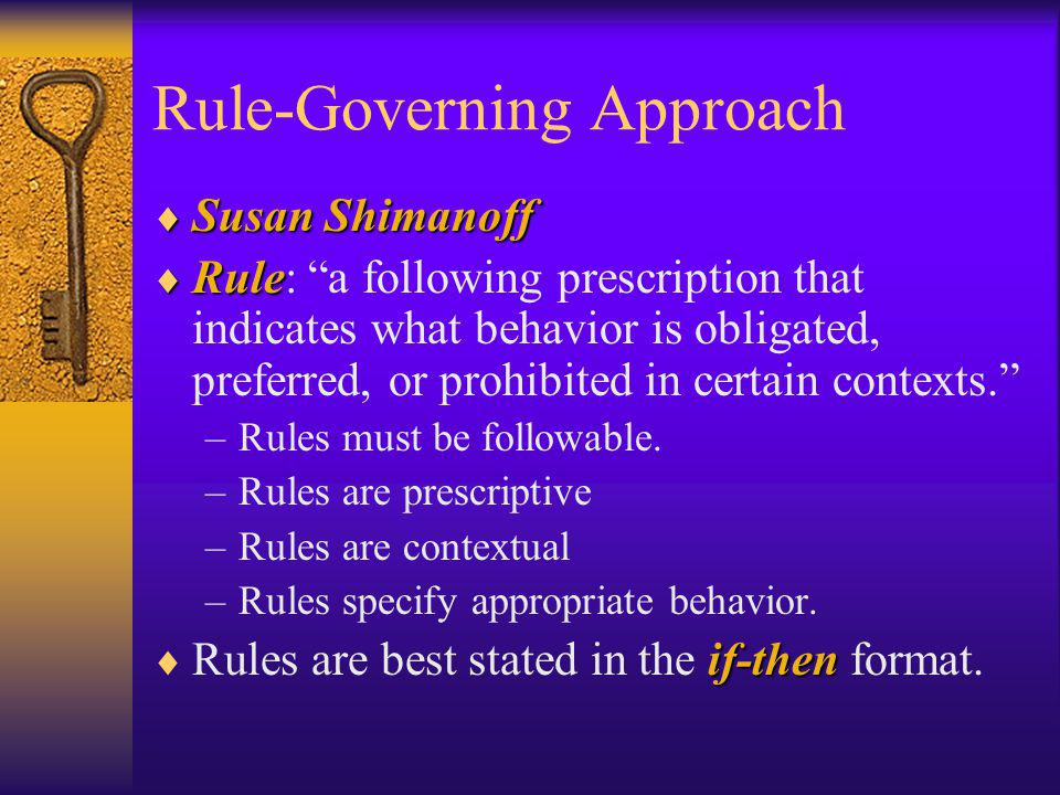 Rule-Governing Approach
