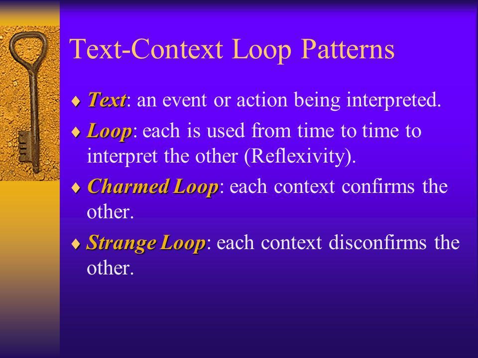 Text-Context Loop Patterns