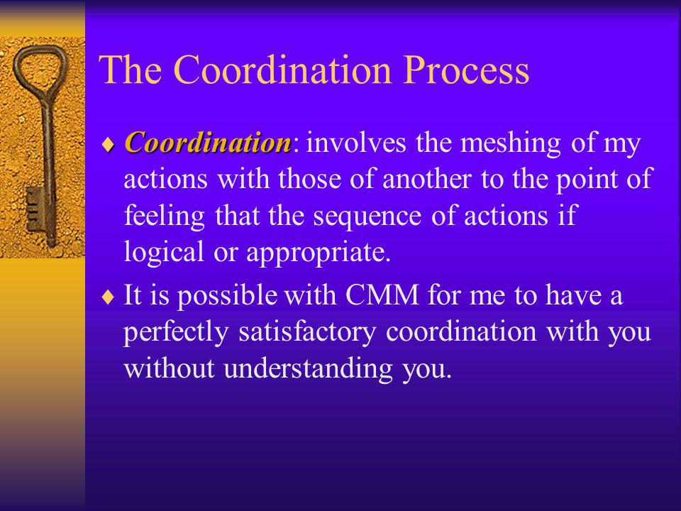The Coordination Process