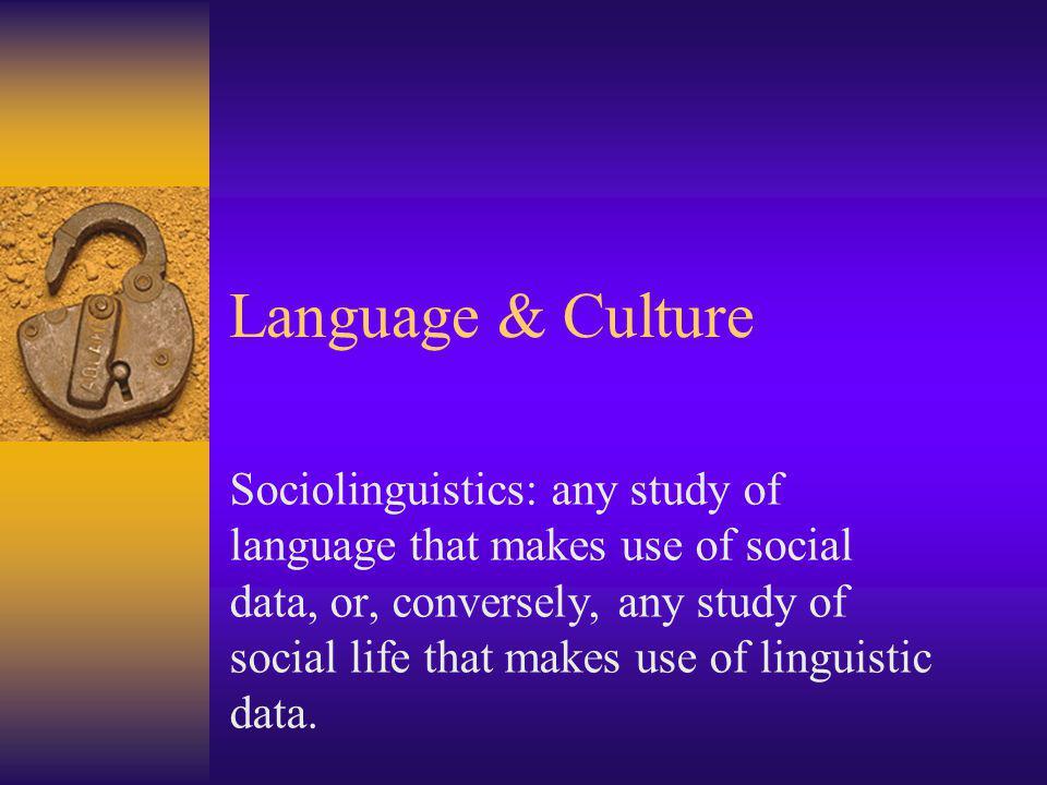 Language & Culture