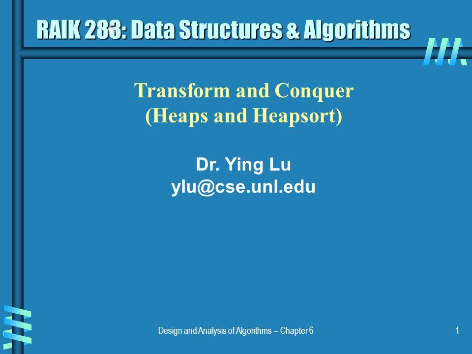 RAIK 283: Data Structures & Algorithms