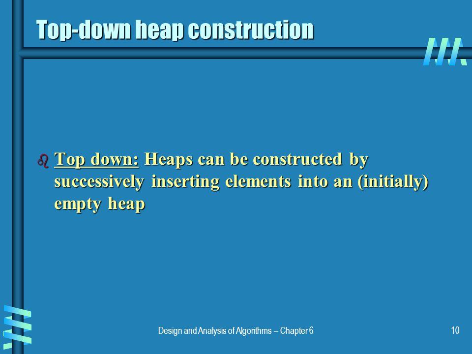 Top-down heap construction