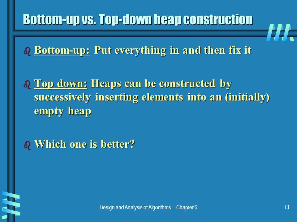 Bottom-up vs. Top-down heap construction