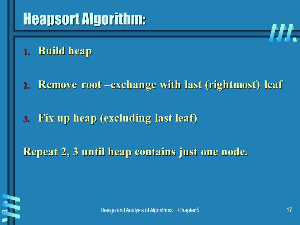 Design and Analysis of Algorithms – Chapter 6